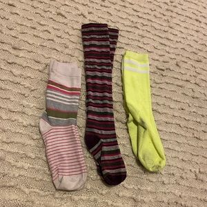 Lot of 3 women's striped socks